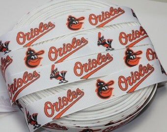 "3 Yards- 7/8"" Orioles Grosgrain Ribbon-3 Yards"