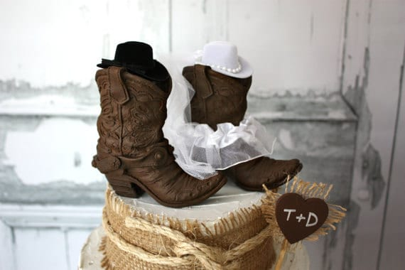 boot wedding cake topper cowboy boots wedding cake topper rustic wedding western 12096