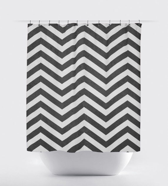 shower curtain black and white chevron pattern 12