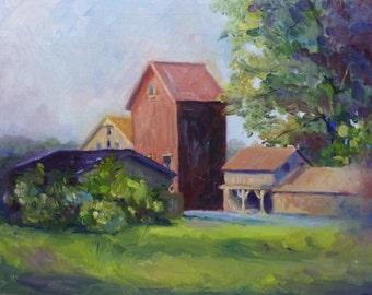 Original Landscape Oil Painting Rural Historic New Jersey