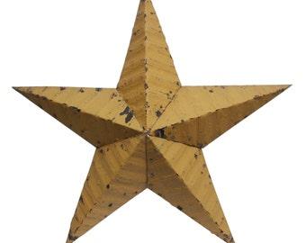 Mustard yellow Amish tin star