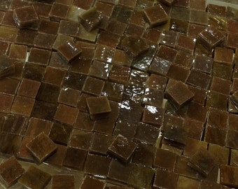 """100 1/4"""" RICH CHOCOLATE BROWN - Stained Glass Mosaic Supply T5"""