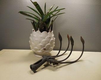 Vintage Four Tine Cast Iron Cultivator