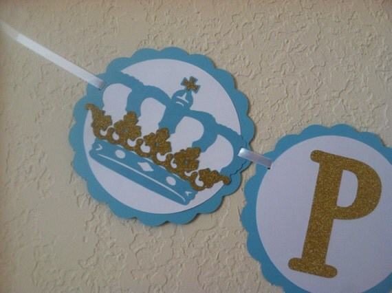prince banner royal baby shower prince theme royal birthday