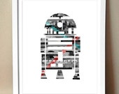 Art Print - R2D2 - Star Wars Magazine Strip Art - 8x10