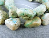 Chrysoprase Beads-- Raw Tumbled Chrysoprase Stone Beads -- 1 STRAND (JJ-02)