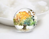 10mm 12mm 14mm 16mm 18mm 20mm 25mm 30mm Handmade Round Photo Glass Cabochons Cover-Tree (P1264)
