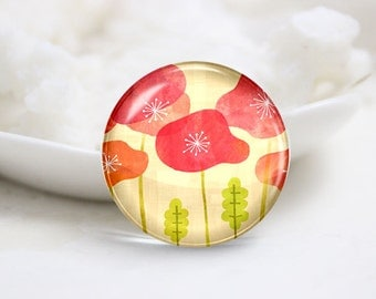 10mm 12mm 14mm 16mm 18mm 20mm 25mm 30mm Handmade Round Photo Glass Cabochons Cover-Lotus (P1254)