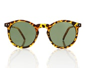 OMalley Circle Tortoise Sunglasses - Green Lens X American Deadstock