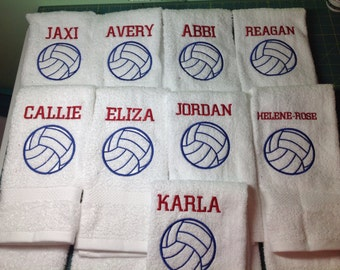 Personalized volleyball towel, volleyball gift, volleyball team gift, coach gift, message for school sports discount