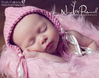 Knitting PATTERN - Knit Hat Pattern - Baby Hat Knitting Pattern - Pixie Hat Pattern - Knitting Patterns - Baby to Adult Sizes - PDF 287