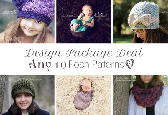 Knitting Patterns - Crochet Patterns - Discount Design Package - Choose ANY 10 - Crochet Patterns for Women - Knitting Patterns for Babies