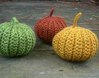 Crochet pumpkins, set of three crochet pumpkins, halloween decor, handmade crochet pumpkins by ILoveCrochetByAnna, READY TO SHIP
