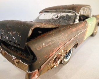 Classicwrecks Rusted Scale Model Chevy Car