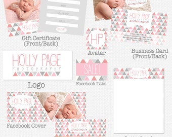 Photography Marketing Set - Premade Photography Marketing Set - Business Cards - Logo Design - Premade Logo Design - Photography Branding