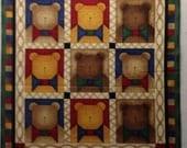 Debbie Mumm Teddy Bear Quilt Block  - South Seas Imports - OOP