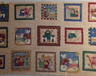 First Christmas Nativity fabric designed by Tammy DeYoung - OOP