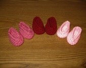 "slippers shoes 3 Pairs Hand-Crocheted for 18 inch 18"" dolls Pinks  will fit American Girl"
