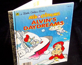 Vintage Children's Book - Alvin and the Chipmunks Alvin's Daydreams - 1990