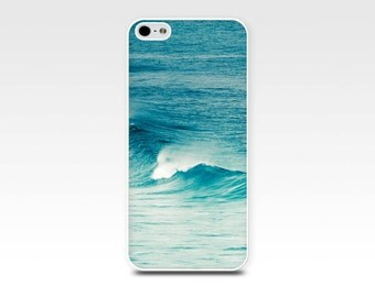 ocean iphone case 5s beach scene iphone 6 iphone 4s nautical iphone case iphone 5 iphone 4 waves iphone case teal fine art iphone case blue