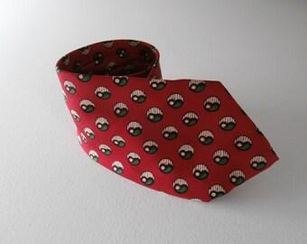 Modern Abstract Tie, Avant Garde Art Deco Necktie, Hipster Men's Fashion, Modern Silk Necktie, Vintage Narrow Tie, Hand Block Printed