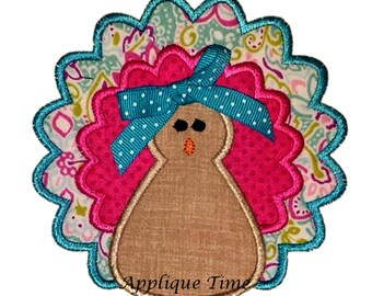 Instant Download  Turkey 4 Machine Embroidery Applique Design 4x4, 5x7 and 6x10