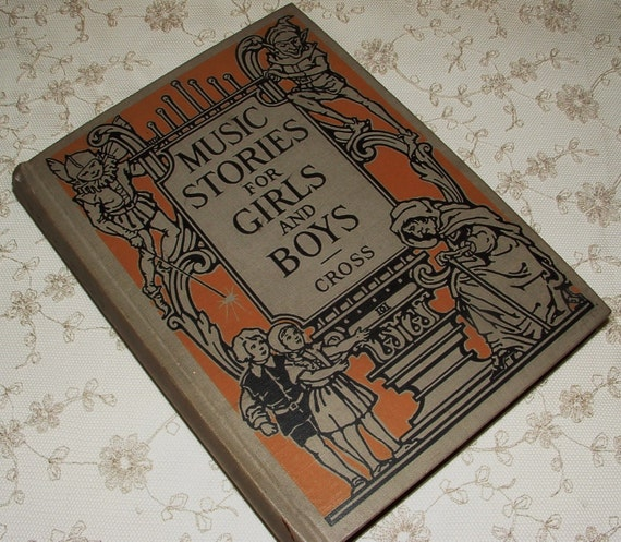 1926 Music Stories for Girls and Boys - full-page color illustrations