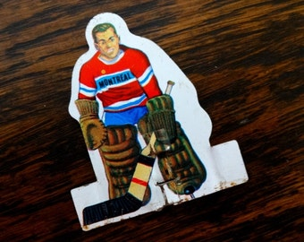 Bobby Hull Canadian Hockey Table Top Game Goalie Magnet   Montreal   Upcycled