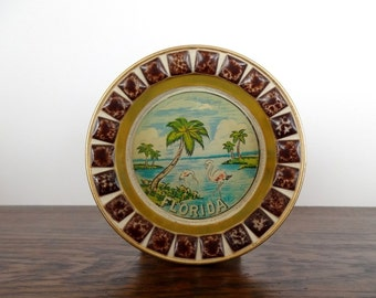 Kitschy Vintage Florida Souvenir Ashtray