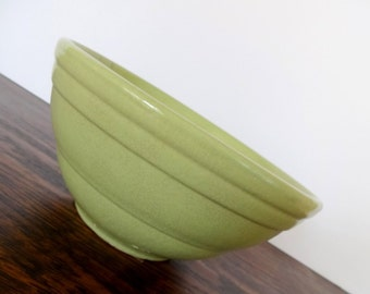 Vintage Pale Green Beehive Mixing Bowl