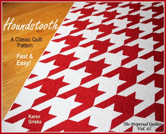 Houndstooth Quilt Pattern Modern quilt pattern Retro quilt : classic modern quilts - Adamdwight.com