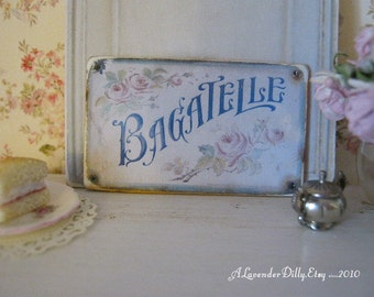 Bagatelle Sign/Print for Dollhouse