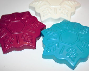 Snowflake Crayons - Set of 3 - Great for a FROZEN Party