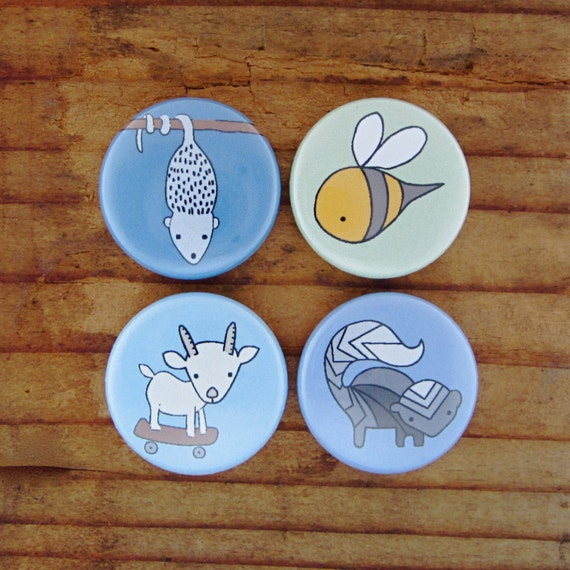 MIx the Categories and PICK ANY FOUR Magnets - Animal Magnets - Science Magnets - Cute Magnets