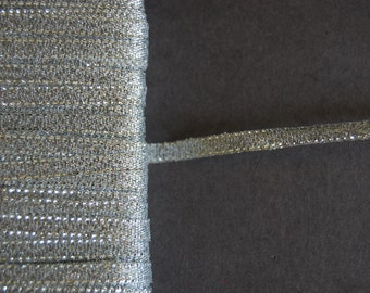 5yds - Silver Metallic Ribbon