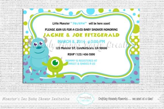 Monsters Inc Baby Shower Invitations diabetesmanginfo