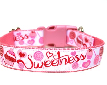 "Valentines Day Dog Collar 1"" Sweet Dog Collar"