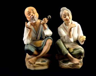 Vintage Ardco Dallas Porcelain Japanese Figurine Couple - Vintage Home Decor Figurine - Asian Figurine - Japanese Figurine - Made in Japan
