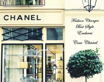 Chanel Art-Paris Print- Boutique-Coco Chanel-Quote-Fashion Photography-Preppy Print-Dorm-Typography-Travel-Romantic-Nursery Art-Vintage-Chic