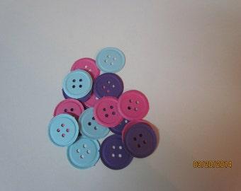 Cumpleaños fiesta confeti mucho 50 usted escoge colores cortadas con tintas relieve botón Punch Lalaloopsy. Linda como una ducha de bebé botón