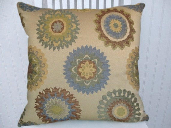 Wedgewood Blue Throw Pillows : Wedgewood Blue Green Decorative Pillow by CodyandCooperDesigns