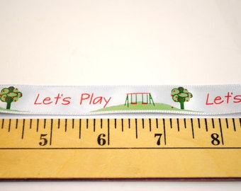 """Let's Play Playground - 5/8"""" Satin - By the Spool - 4ft"""