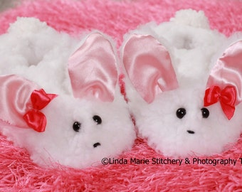 Fluffy Bunny Slippers