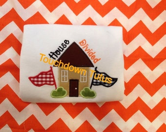House divided customized to your house / team colors. Add name for free