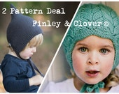 2 Pattern Deal  PDF Knitting Pattern to Knit Your Own Hat at Home - FINLEY and CLOVER