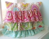 Ruffled Kumari Garden Tiered Pillow