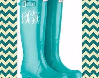 Rain boot monogram decals set of 2