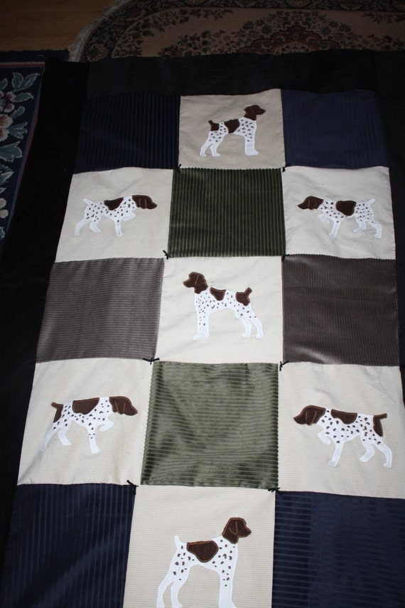 Items Similar To Handmade German Shorthaired Pointer Quilt