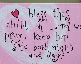 Pink Bless This Child...8 x 10