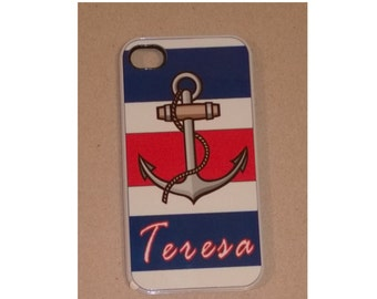 Personalized Iphone Case - Anchor's Away